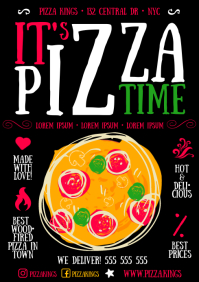 PIZZA POSTER A4 template