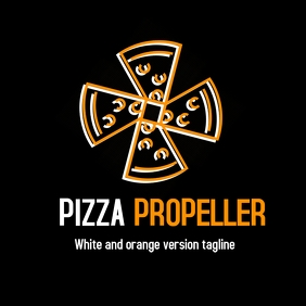 pizza propeller/mill logo 徽标 template