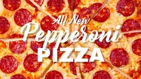 Pizza restaurant display