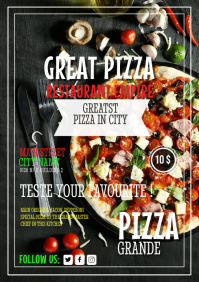 Pizza Restaurant Flyer Template.