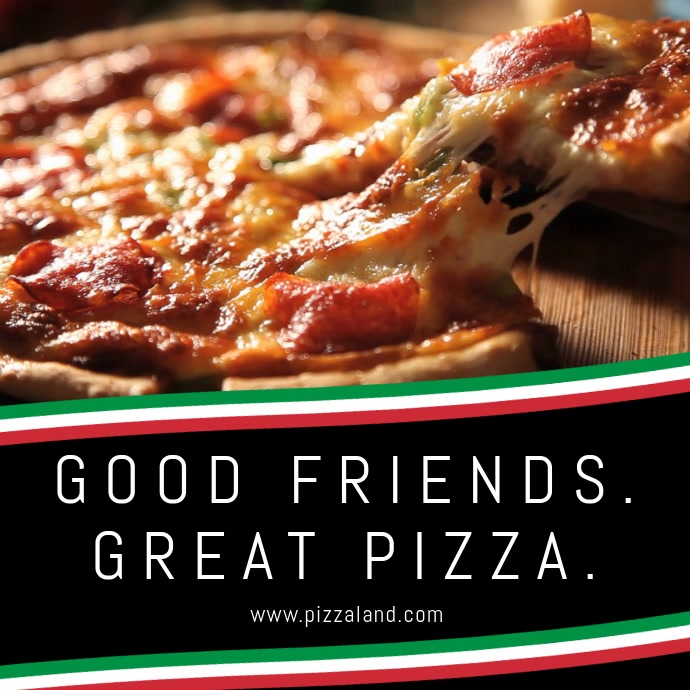 Pizza Restaurant Instagram Video Post Template