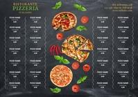 Pizza restaurant Menu design template A4