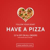 pizza restaurant modern minimal creative adve Instagram-Beitrag template