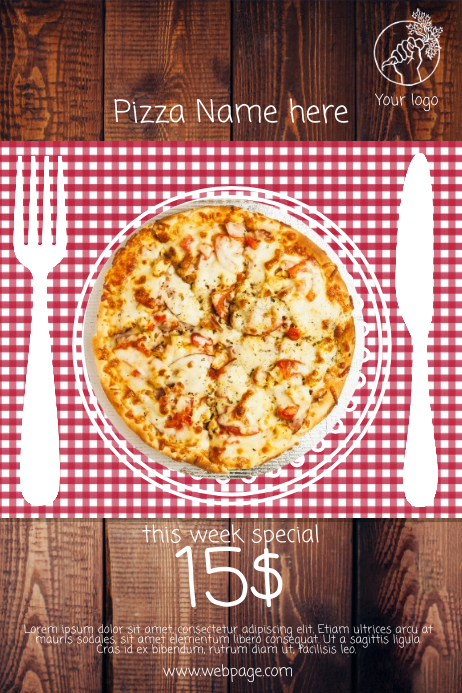 Pizza Restaurant Offer Sale Free flyer Template