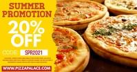 Pizza Restaurant Promo Digital Ad Template รูปภาพที่แบ่งปันบน Facebook