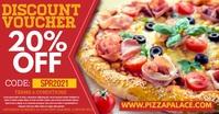 Pizza Restaurant Promo Digital Ad Template Ibinahaging Larawan sa Facebook