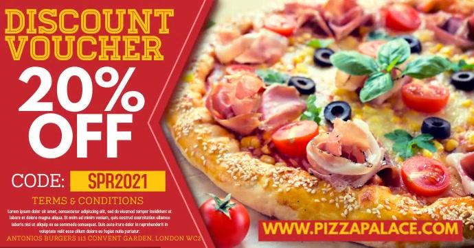 Pizza Restaurant Promo Digital Ad Template Facebook Shared Image