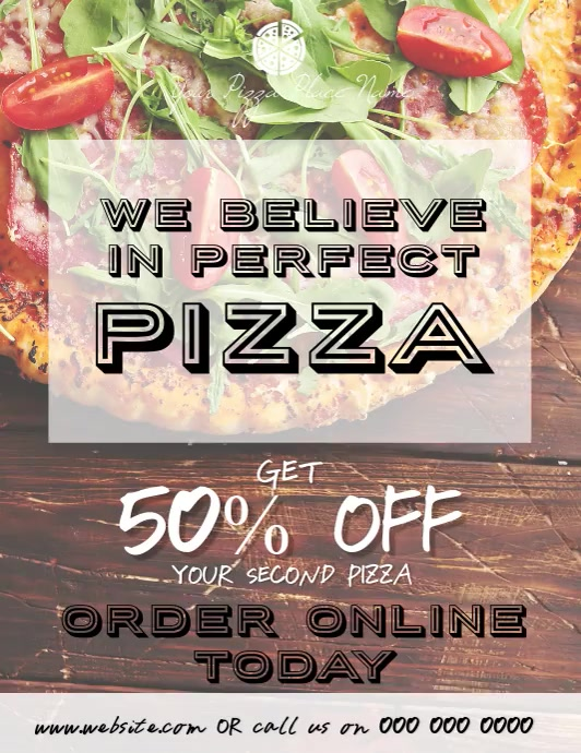 Pizza Restaurant Video Flyer Template