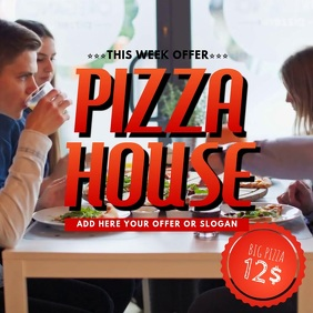 pizza restaurant video template for instagram
