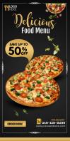 Pizza Roll up Spanduk Gulir Atas 3' × 6' template