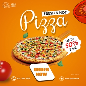 pizza sale Instagram 帖子 template