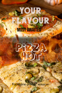 pizza sale poster,new flavour advertisement poster,flyer