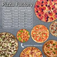 Pizza shop template Message Instagram