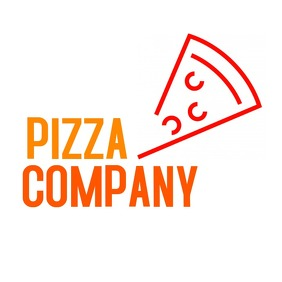 pizza slice logo โลโก้ template