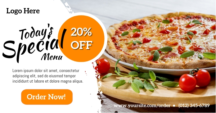 Pizza Special Offer Facebook Advertensie template