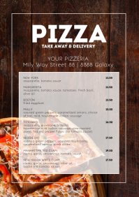 Pizza Take Away and Delivery Flyer Poster A4 template