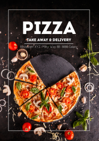 Pizza Take Away and Delivery Flyer Poster
