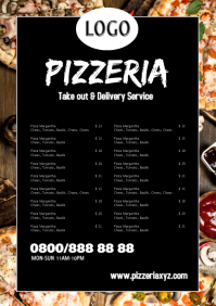 pizza Take away out restaurant Flyer Poster A4 template