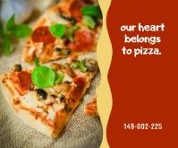 Pizza Template Middelgrote rechthoek