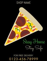 Pizza Template Pamflet (Letter AS)