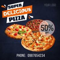 Pizza Template flyer Message Instagram