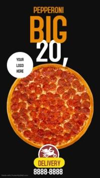 PIZZA TIME เรื่องราวบน Instagram template