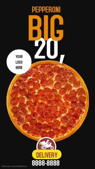 PIZZA TIME Instagram-verhaal template