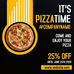 pizza time instagram post advertisement template
