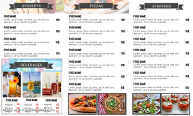 Pizza Trifold Back Flyer Template