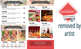 Pizza Trifold Front Flyer Template