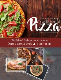 Pizza Video Flyer template