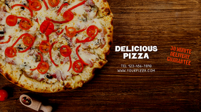 Pizza Youtube Channel Art Banner Template