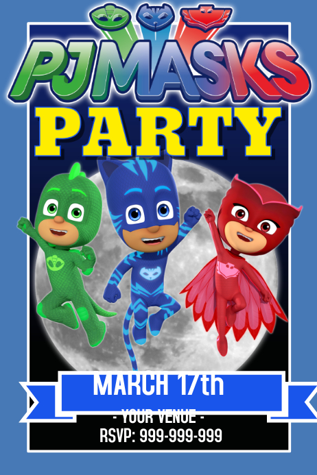 picture about Pj Mask Printable called PJ Masks Flyer Poster Template PosterMyWall