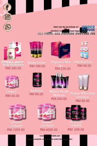 PL product catalogue Poster template