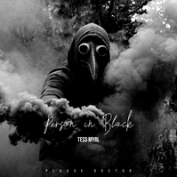 Plague Doctor Person in Black CD Cover Pochette d'album template