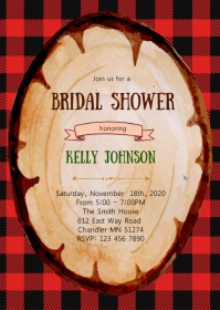 Plaid christmas theme invitation