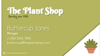 Plant/Nursery/Eco Shop Kartu Bisnis template