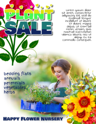plant sale flyer template
