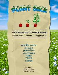 Plant Sale Fundraiser Flyer Template Pamflet (VSA Brief)