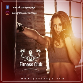 Plantilla Club Fitness