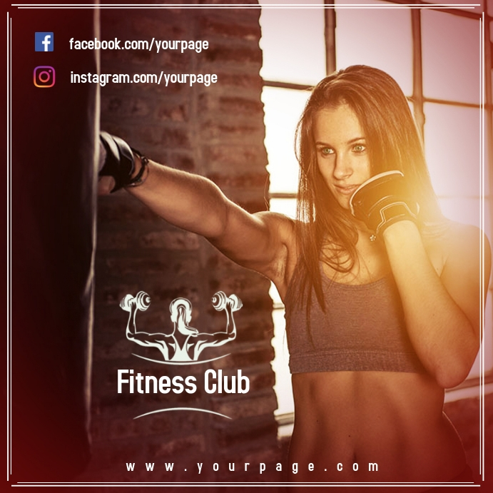 Plantilla Club Fitness