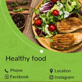 Plantilla de comida para redes sociales