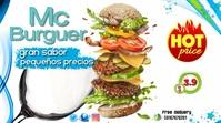 plantilla de hamburguesa Digital Display (16:9) template