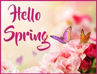 plantilla de la red social Hola Primavera Flyer (Letter pang-US) template