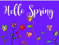 plantilla de la red social Hola Primavera Flyer (US-Letter) template