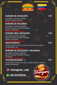 plantilla de menu para comida o bebidas Баннер 4' × 6' template