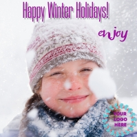 plantilla felices vacaciones de invierno Message Instagram template