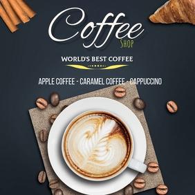 Plantilla para cafetería Instagram Post template
