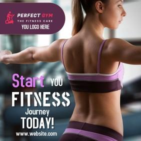 plantilla para fitness Instagram Post template