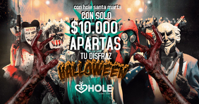 Plantilla para halloween Facebook Shared Image template